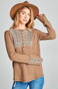 Thermal Knit Henley Top