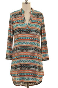 Aztec Print Tunic