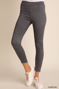 Moto Jeggings w/Pintuck and Ankle Zipper (3 colors)