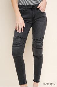 High Waisted Skinny MOTO Stretch Denim Jeans (2 colors)