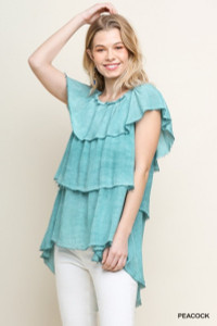 Layered Ruffle Top - Off or On Shoulder