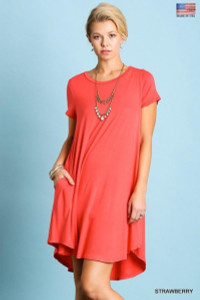 Pocket Tee Dress (2 colors)