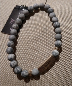 """Faith"" Natural Stone Bracelet"
