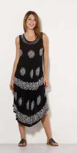 Long Black/White Sundress/Cover-Up