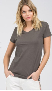 Charcoal Basic Cotton Top