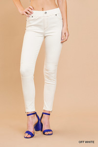 High Waisted Leggings w/Ankle Side Zip