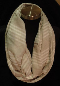 Chambray Stripe Infinity Scarf *RESTOCK*