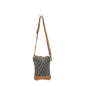 MYRA Chevron Print Crossbody Bag