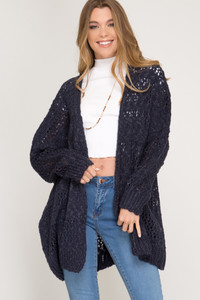 Navy Sweater Cardigan