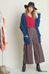 Open Front Cardigan w/Pockets