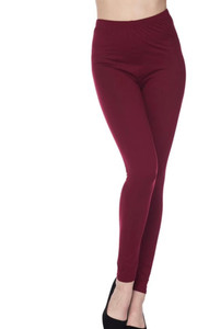 Solid Burgundy Leggings