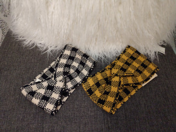 Headband (Ivory/Blk or Mustard/Blk)