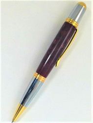 Burgundy twist ball point pen with Parker style refill