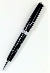 Black with white thin pen