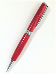 Slim, twist red handmade pen