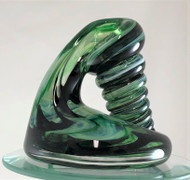 Green and black pen holder/paperweight