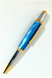 Aqua blue pearl pen