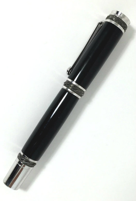 fountain pen with cap on