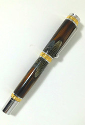 ring neck pheasant feathers on fountain pen