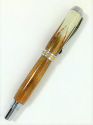 Pen made with actual Golden Pheasant feathers