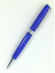 Slim royal blue pen