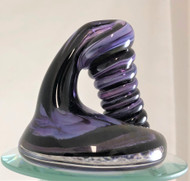 Purple and black pen holder/paperweight