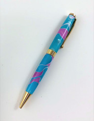 Pink & Aqua Slim Lamar Pen