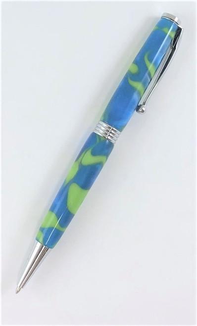 Slender, twist  handmade pen