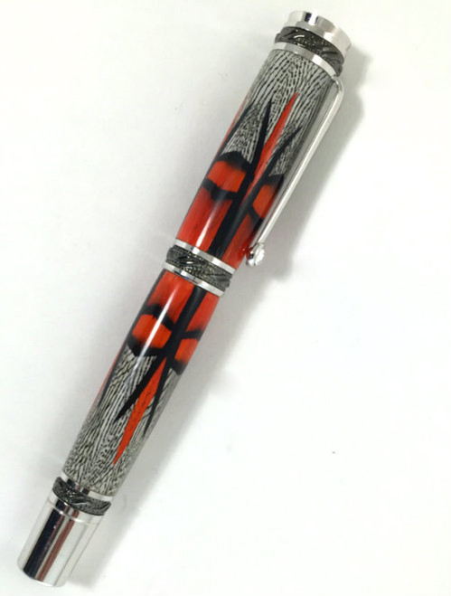 Pheasant feather fountain pen