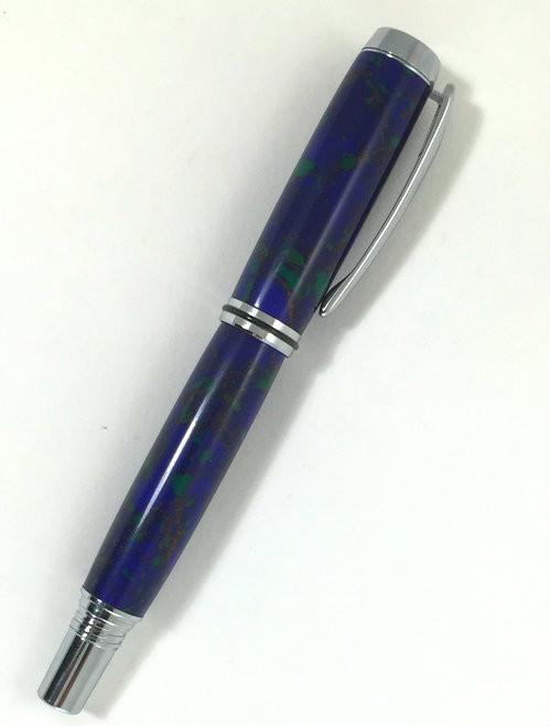 azurite & malachite pen