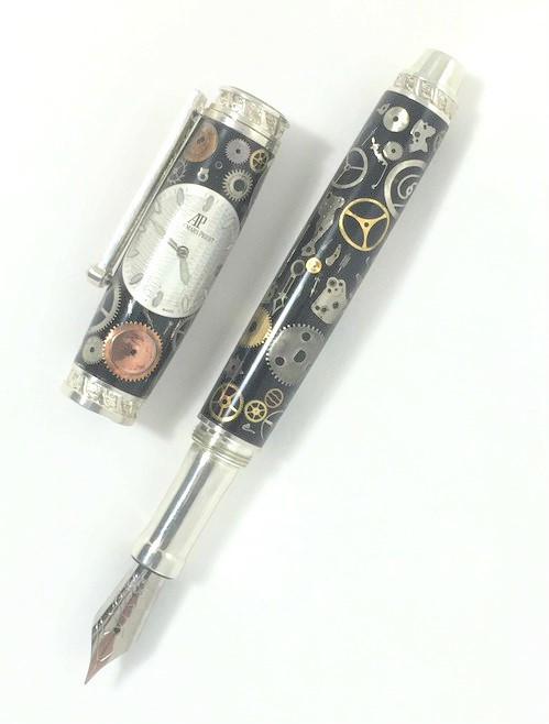 Fountain pen made with Audemar Piguet watch