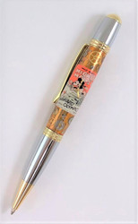 Pen made with Mickey Mouse Barnyard Olympics watch