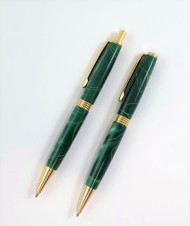 Pen & Pencil Set in Emerald Green Colors