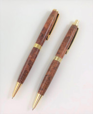 Pen & Pencil Set in Red Mallee Burl Wood