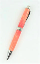 Orange handmade pen