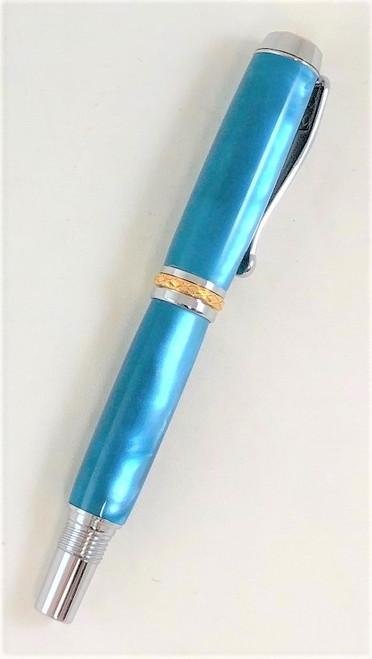 Cool aqua rollerball or fountain pen