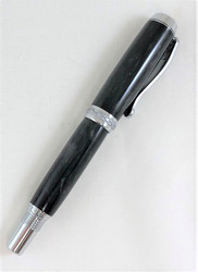 Classic black fountain pen or rollerball