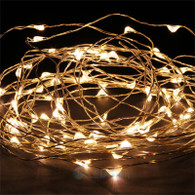 TDLTEK Starry String Lights + Power Adapter -- 33ft 100Led Warm White Flexible Wire For Outdoor, Gardens, Homes, Christmas Party, Wedding (Warm White)