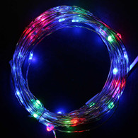 TDLTEK Starry String Lights + Power Adapter -- 33ft 100Led Cool White Flexible Wire For Outdoor, Gardens, Homes, Christmas Party, Wedding (Multiple Color)