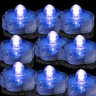 TDLTEK submersible Led Lights - Tea Lights - For Wedding ,Special Events, 36 Pack Blue