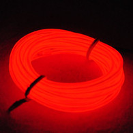 TDLTEK Neon Glowing Strobing Electroluminescent Wire /El Wire + 3 Mode Battery Controller, Red 9ft