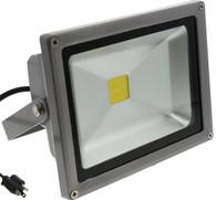 20W Flood Light - TDLTEK 20W Cool White LED Flood Light /Spotlight/Landscape Lamp/Outdoor Security Light With US 3 prong plug