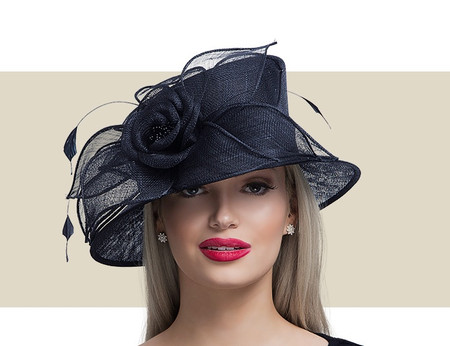 KENDALL Fancy Church Hat - Black