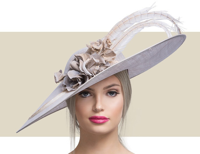 b6c7b0be Light Blue Lady Diane Seamist Fascinator Hat for Women