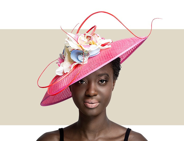 925df8975fe8d Home · Kentucky Derby Hats  CREE - Light Pink. Light Pink Window Sinamay Hat