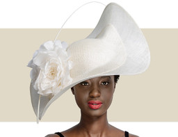 SWEEPING WAVE HAT - Ivory