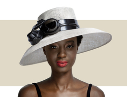 DOWNTURN HAT - Grey Pearl and Black
