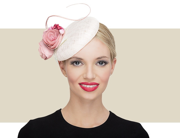 Light Pink Beret Headpieces - An Ideal Hat for Weddings   Horse Races 33bb8119aa2