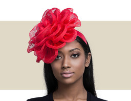 FLOWER FASCINATOR - Red