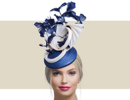 TABITHA - Navy Blue and Ivory